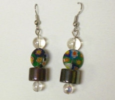 Fused Glass Pierced Earrings 6