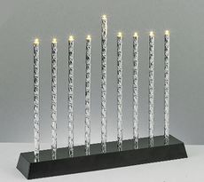 Diamond Cut Aluminum Tubes Menorah