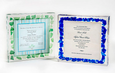 Lucite Wedding Invitation W/WO Broken Shards Border