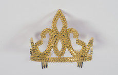 Gold Tiara With Combs