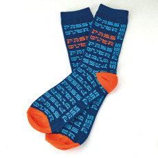 """Passover"" All Over Crew Socks - Adult"