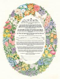 Oval Floral Summer