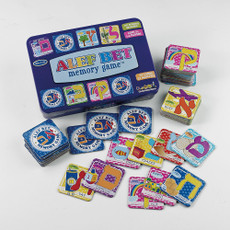 Alef-Bet Memory Game in Tin Box