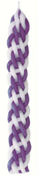 Purple and White Flat Havdalah Candle