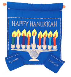 Fabric Menorah Wall Hanging