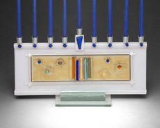 Beames Designs Stellar Fused Glass Menorah - White