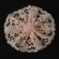 Pink Lace Chapel Hat With Bow