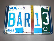 """Bar 13"" License Plate Sign"