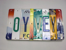 """Oy Vey"" LIcense Plate Sign"