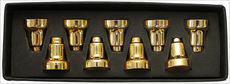 Chanukah Menorah Drip Cups - Brass