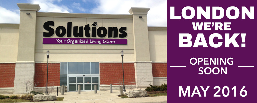 Solutions Stores London Opening May 2016