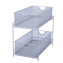 Mesh Two Tier pull-out basket. Place under your sink, on counter tops or even your home office.