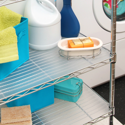 Keep your bathroom shelves clean and ventilated with the Drawer Liners.