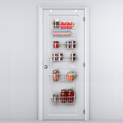 pantry organizer over the door storage pantry door rack. Black Bedroom Furniture Sets. Home Design Ideas