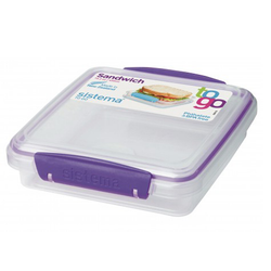 Purple Klip-It Sandwich Box.