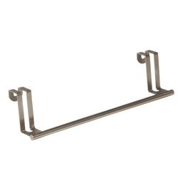 Brushed Nickel Over Cabinet Towel Bar