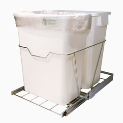 Pull-Out Dual Waste & Recycling Bin