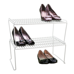 Made from PE coated heavy duty gauge wire. Can sustain up to 9 pairs of shoes.