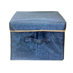 Blue Fabric Storage Box