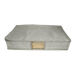 Grey Fabric Zippered Under Bed Storage