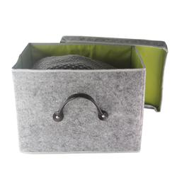 Grey Fabric Covered Storage Box