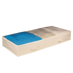 Easy storage under the bed. Protects clothing from moisture, dust and dirt. Wipes clean with a damp cloth.