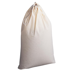 The Cotton Laundry Bag is designed to carry 2-3 loads of laundry. Machine washable.
