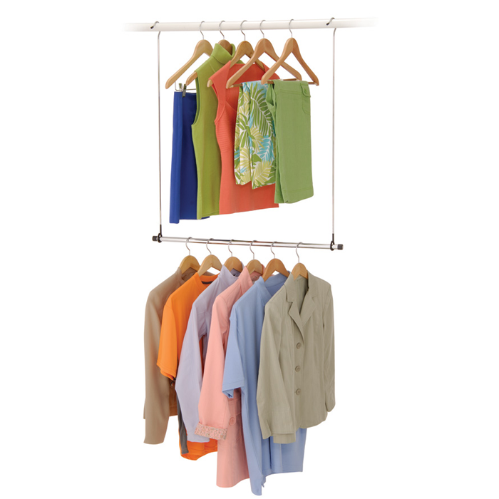 Sturdy Metal Construction That Can Easily Hook To The Closet Rod For Double  Closet Hanging Capacity
