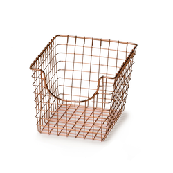 Copper Wire Scoop Basket