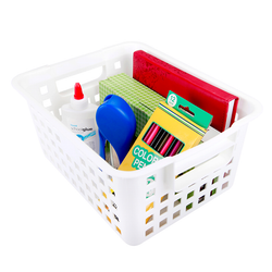 Green Kids Large Hobby Basket. Features handles for easy portability.