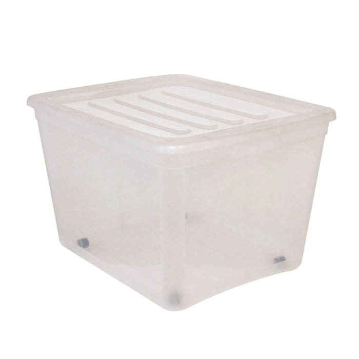 ... Essential Clear Storage Tote. Image 1