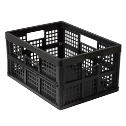 Folding Crate in black | Solutions Store