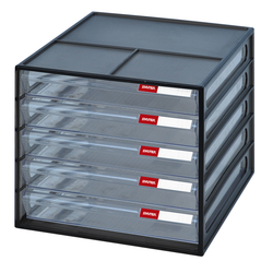 Stacking Desktop Drawer in black | Solutions Store