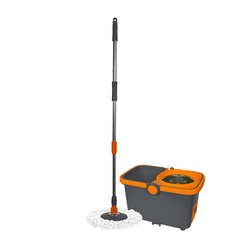 Spin cycle mop and spin cycle bucket. Mop has ability to spin to make mopping easier and more efficient.