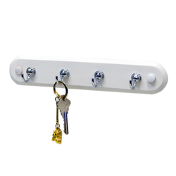 Four Hook Key Rack
