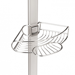 """Shower caddy can extend anywhere from 6"""" to 9"""". Features 4 removable shelves that can be shifted to fit users needs. The shelves have a locking snap mechanism to keep shelves in place."""