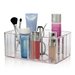 Acrylic vanity organizer is made from durable acrylic. Transparent design makes it easy to view your items with ease. Features 5 compartments.