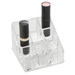 9 compartment acrylic cosmetic organizer. Open design for easy access.