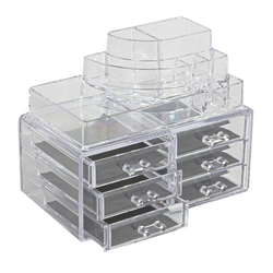 Acrylic 3 Tier Cosmetic Organizer with 6 Drawers