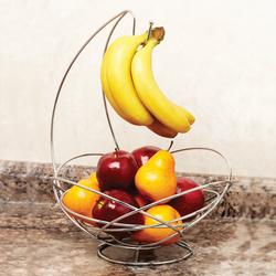 Abstract Fruit Basket & Stand
