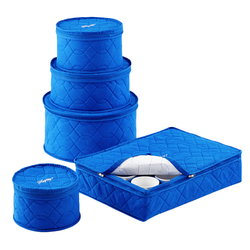 Quilted Dinnerware Storage Set