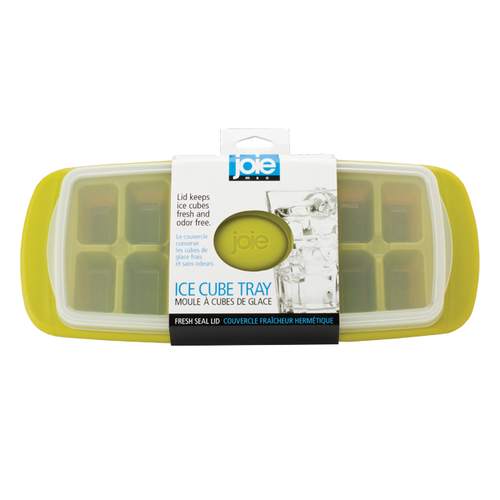 Clip Ice Cube Tray features a flip top lid. Comes in assorted colours.