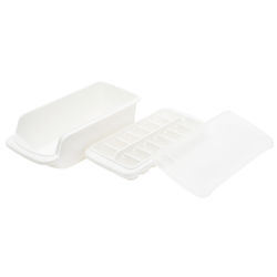 COVERED ICE TRAY WITH BIN