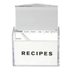 Acrylic Recipe Box