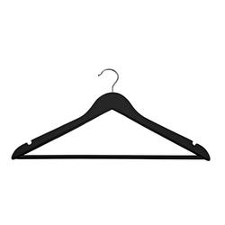 Black Basic Hangers - Set of 8