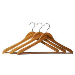Bamboo Hangers with Bar