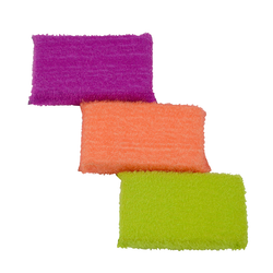Cascol scrubby sponge comes in three colours: Coral, peach and lime.
