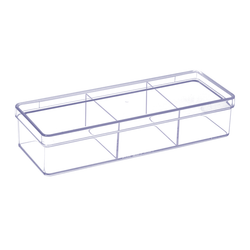 Acrylic Vanity & Drawer Organizer Small 3 compartment