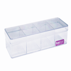 Acrylic Vanity & Drawer Organizer Small 4 compartment
