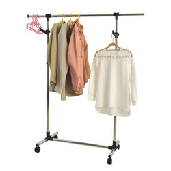 Garment Rack has adjustable height and length.